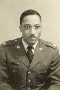A 1940s-era photo of Williams in his military uniform