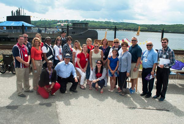 The VITAS team gathers outside at Naval Submarine Base New London