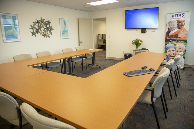 The conference room in Millsboro