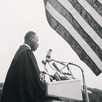 "King delivers his famous ""I Have a Dream"" speech"