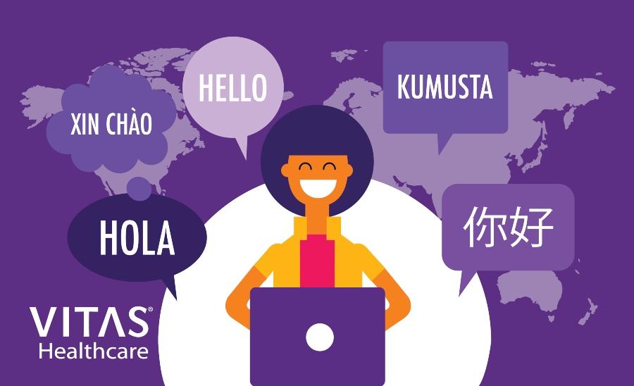圖片顯示VITAS.com提供西語、中文、越南語、他加祿語等翻譯
