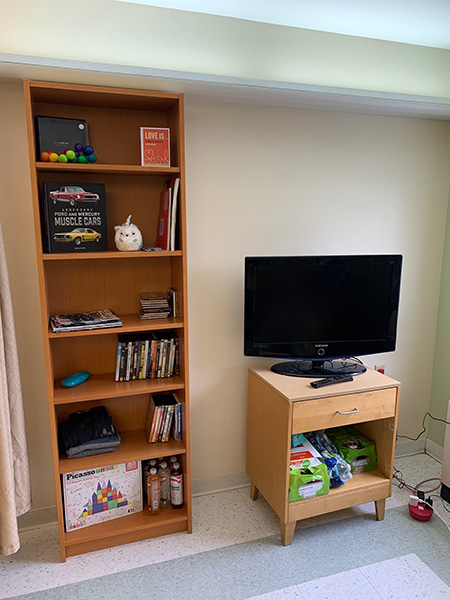 The bookcase that Adam built for his patient