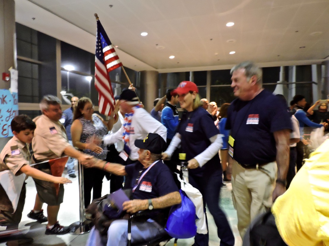 Boy Scouts welcome back Vietnam and WWII Vets