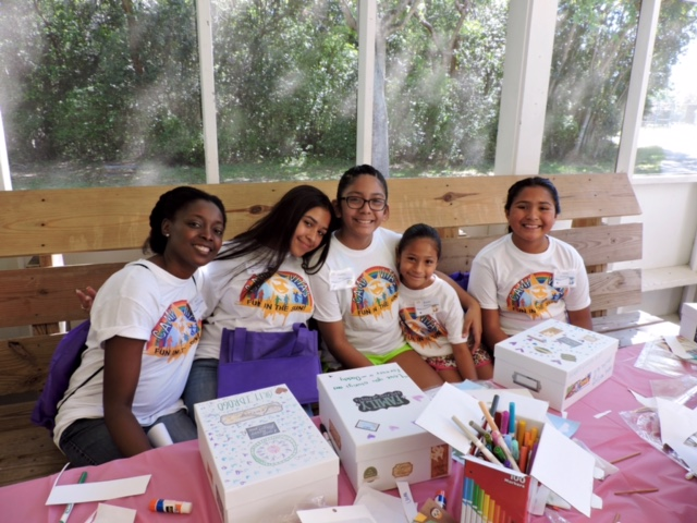 Five girls who attended Camp VITAS 2016