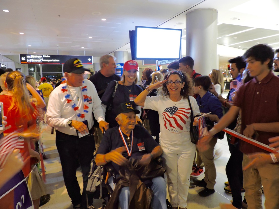 Veterans and VITAS Staff at Miami National Airport