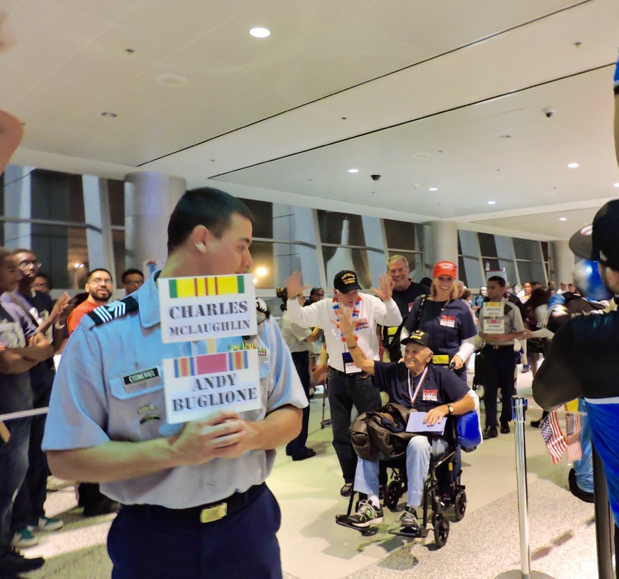 Veterans are given a warm welcome at Miami's airport