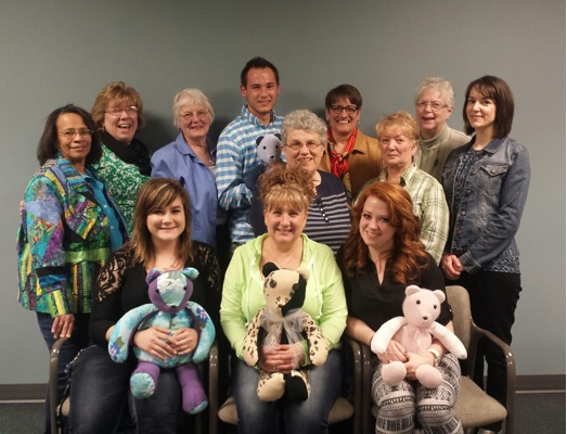 VITAS Patient-families with their memory bears