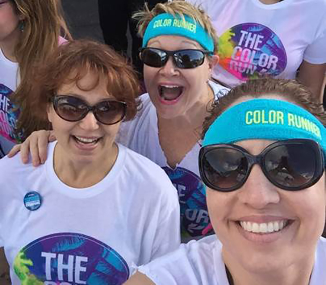 VITAS Employees prepare for Color Run
