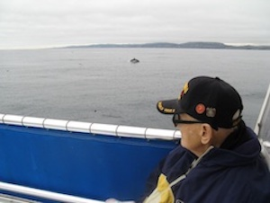 WWII Vet Vincent Whale Watching