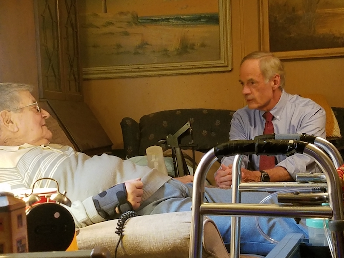 World War II Vet Hospice Patient being cared for