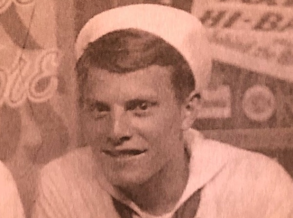 A photo of Jerry in his sailor's uniform during his service days