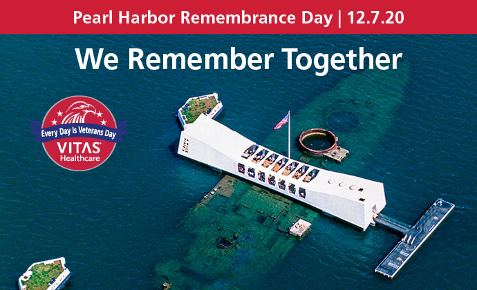 The Pearl Harbor National Memorial with the words We Remember Together