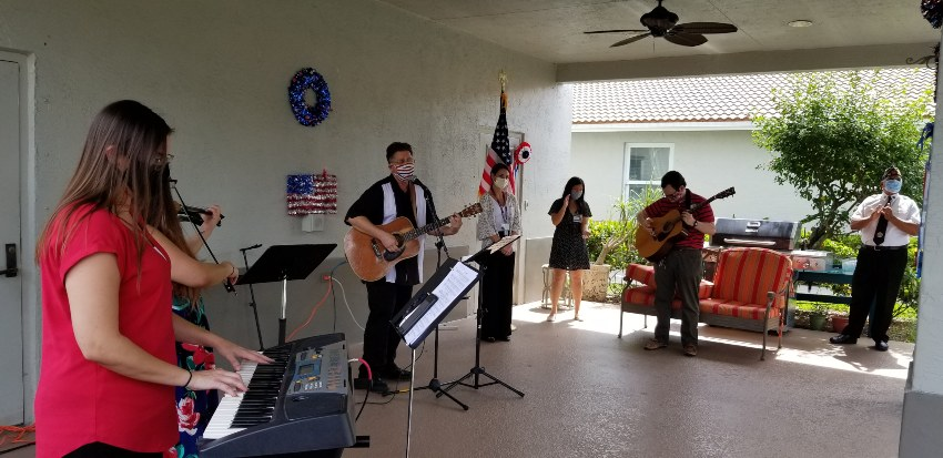 VITAS musicians perform outdoors