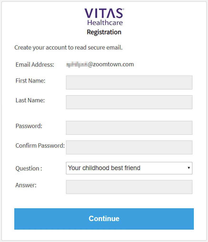 Captura de pantalla de la solicitud de ingreso.