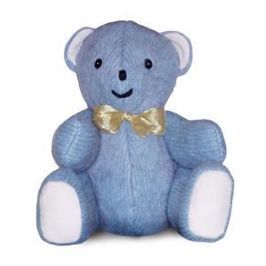 Un oso de peluche azul